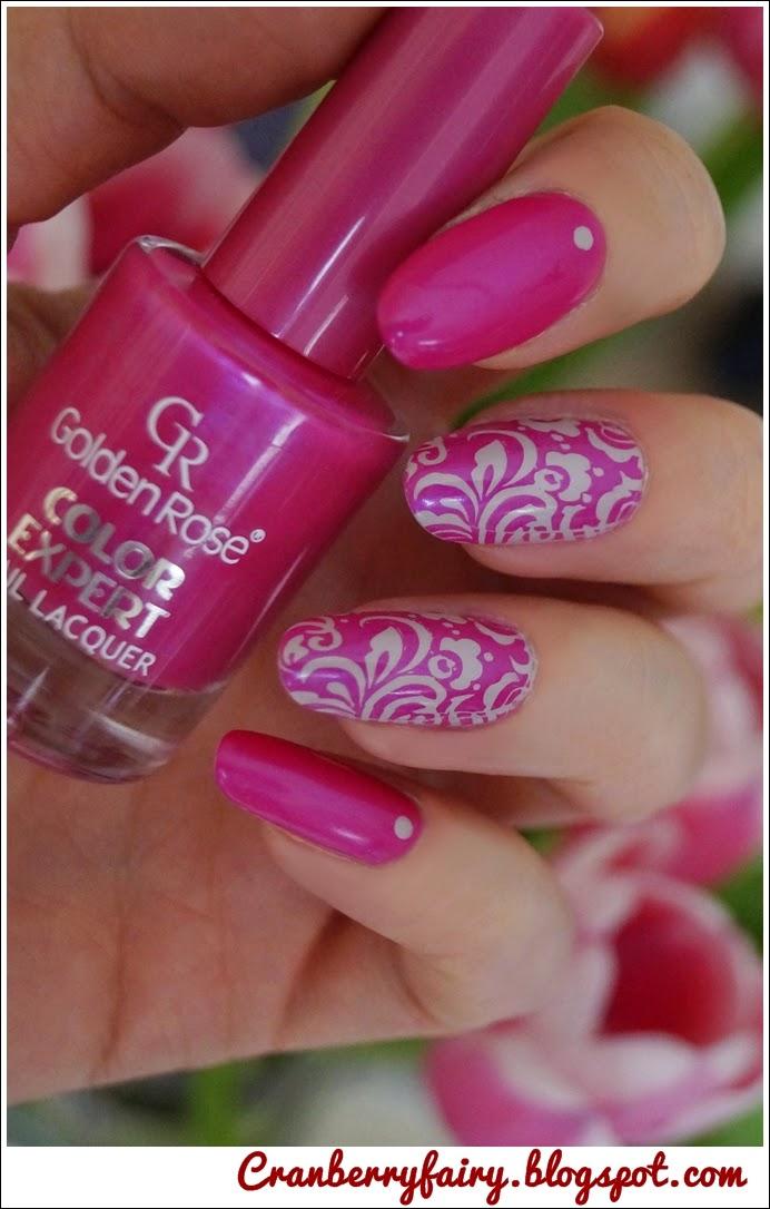 Cranberry Fairy Fuksja Na Paznokciach Golden Rose Color Expert