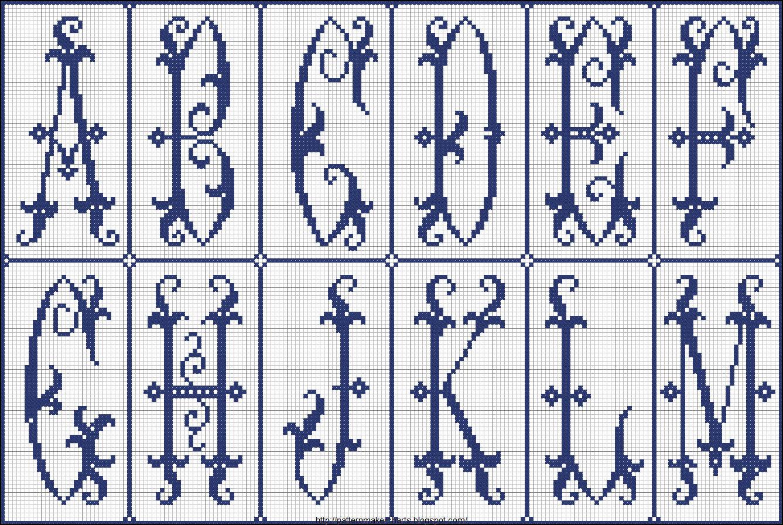 Вязаный алфавит крючком. Схемы для вязания 67