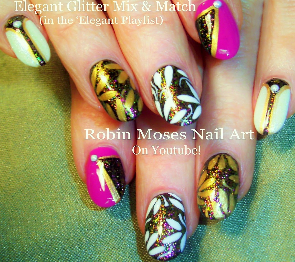 Robin moses nail art nail art pink nails spring nails nail art pink nails spring nails spring nail trends spring nail art elegant nails pink and black nails clip art pink black white how to prinsesfo Choice Image