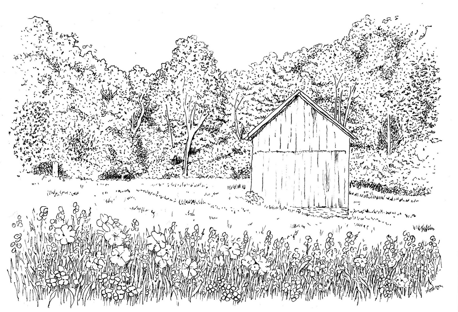 Free Over In The Meadow Coloring Pages Meadow Coloring Page