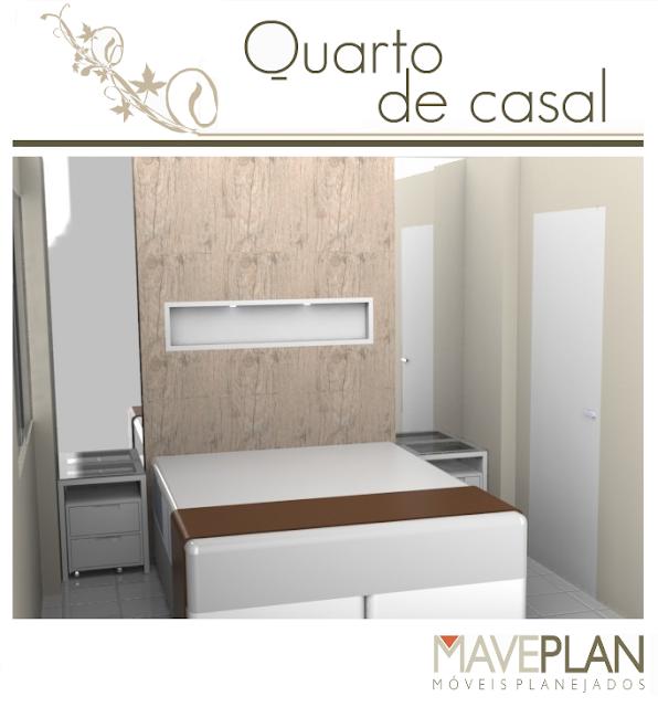 Maveplan Móveis planejados para quarto de casal ~ Quarto Casal Com Moveis Planejados