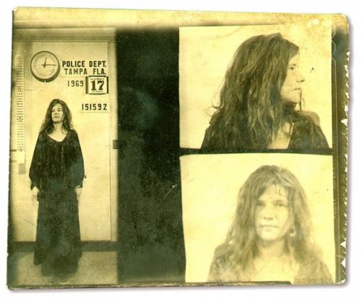 Janis Joplin 1969 mugshot