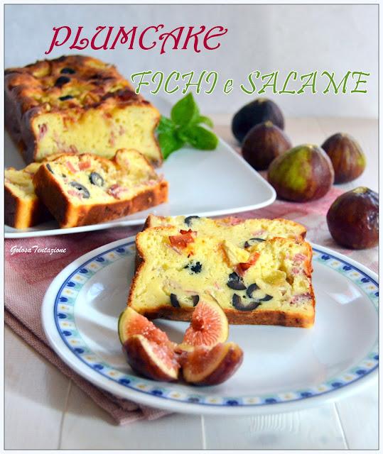 plumcake con fichi e salame