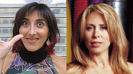 Paz Padilla y Miriam Díaz Aroca