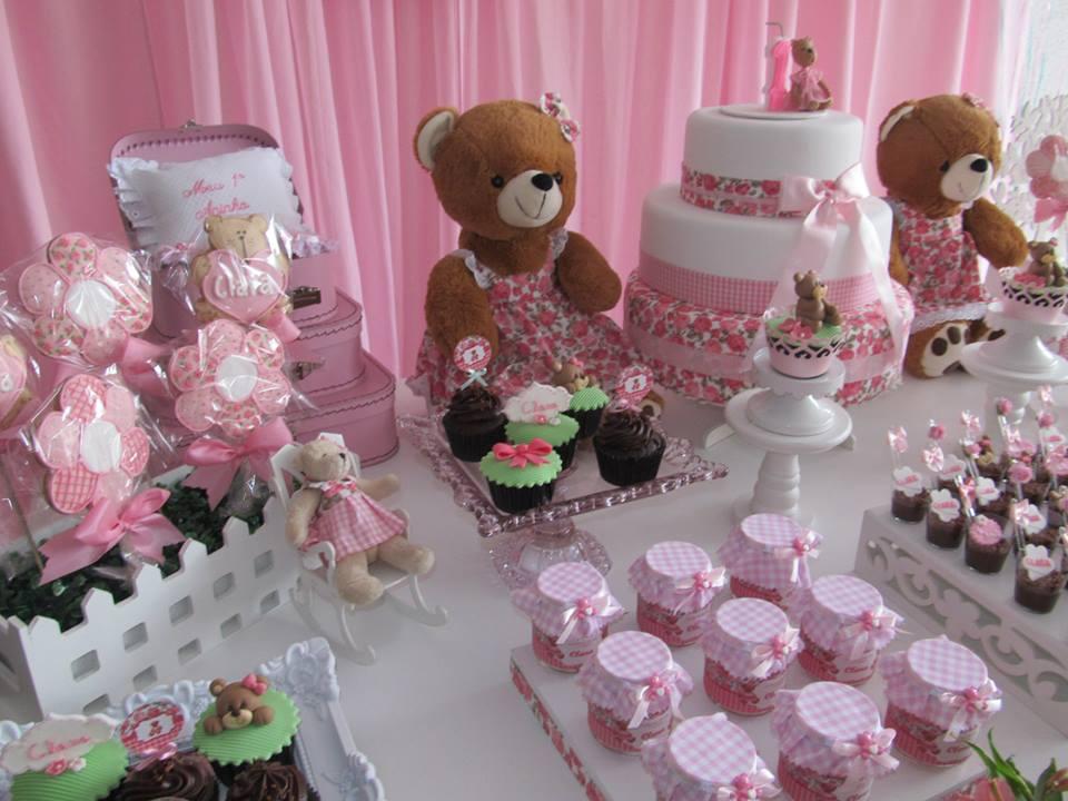 decoracao festa xadrez:DECORAÇÃO PROVENÇAL : Ursinhas Floral e Xadrez – Festa 1º aninho