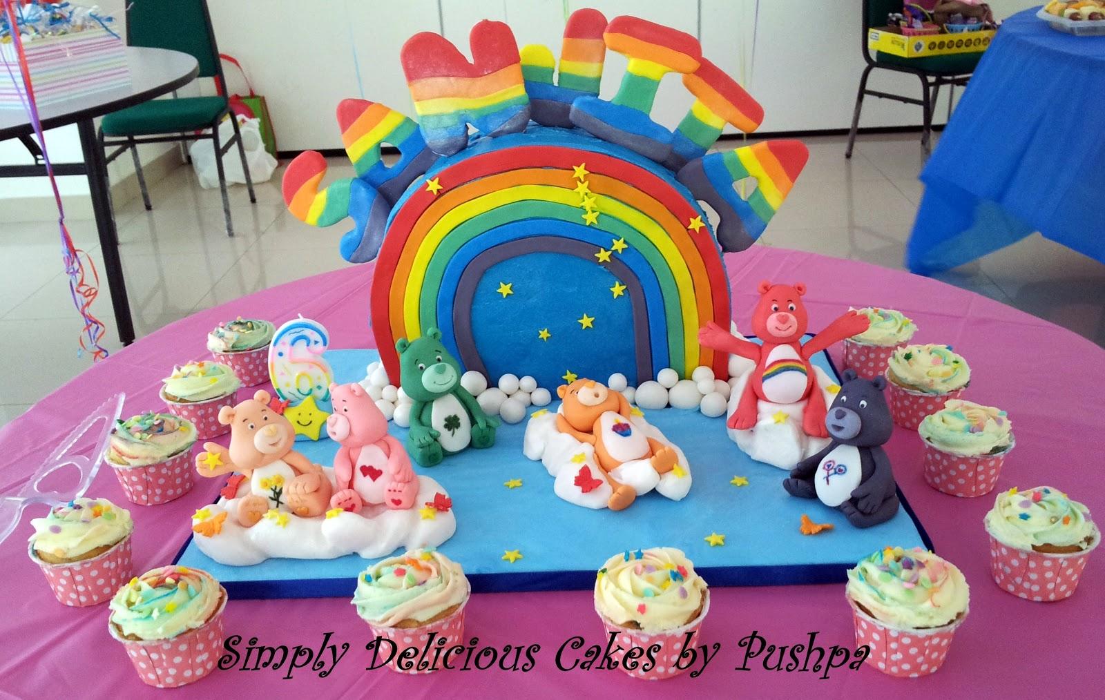 Simply Delicious Cakes Rainbow With Care Bears Birthday Cake