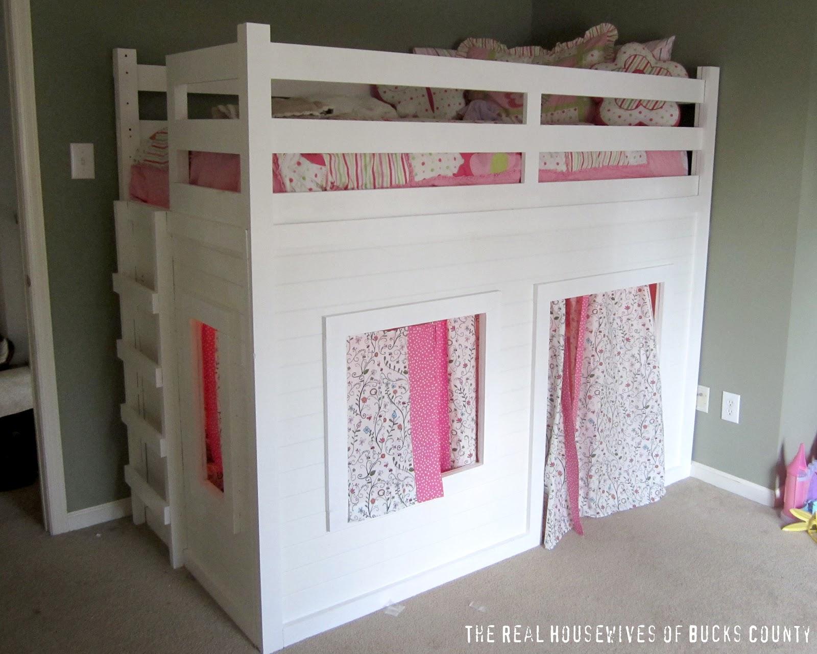Girls Bed Plans Playhouse Loft Bed Little Girl's Room  East Coast Creative Blog