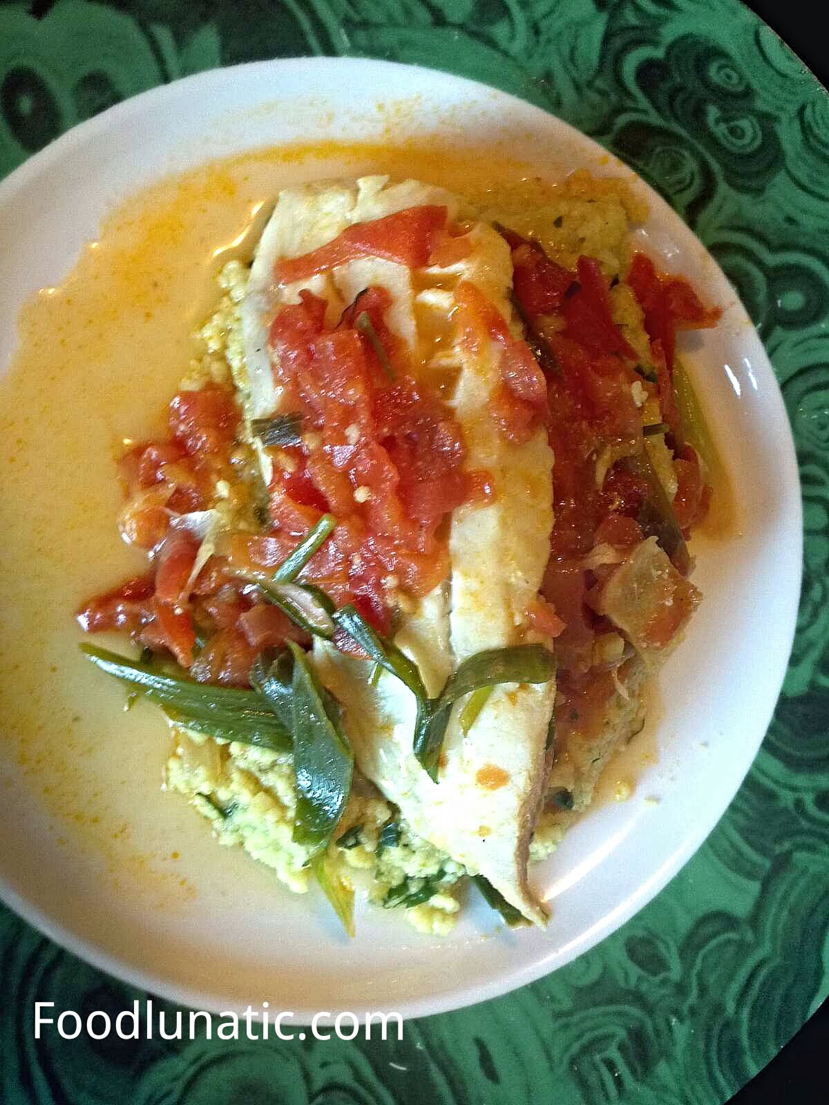 Food lunatic poached fish in tomato ginger sauce with for Fish in tomato sauce