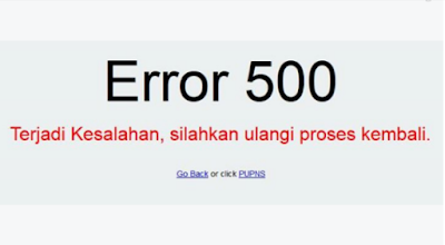 Cara Mengatasi Registrasi e-PUPNS Error 500