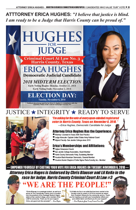 PAGE 31 - HOUSTON BUSINESS CONNECTIONS NEWSPAPER© RUNOFF ELECTION - PART 1 OF 3