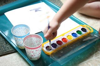 toddler painting art