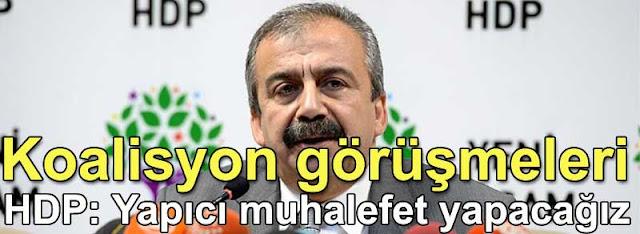 HDP Sirri Sureyya Onder: Yapici muhalefet yapacagiz | Koalisyon gorusmeleri
