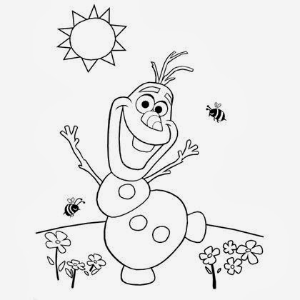 Sasaki Time Craft Time Olafs Summer Coloring Page