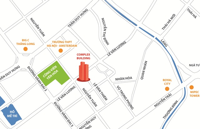 vị trí chung cư hacc1 complex buildings