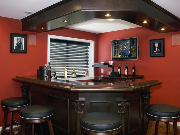 Designing Basement Bar Idea