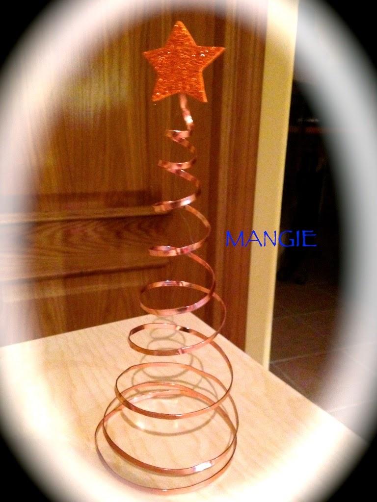 árbol de navidad alambre