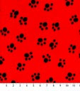 Puppy print on red