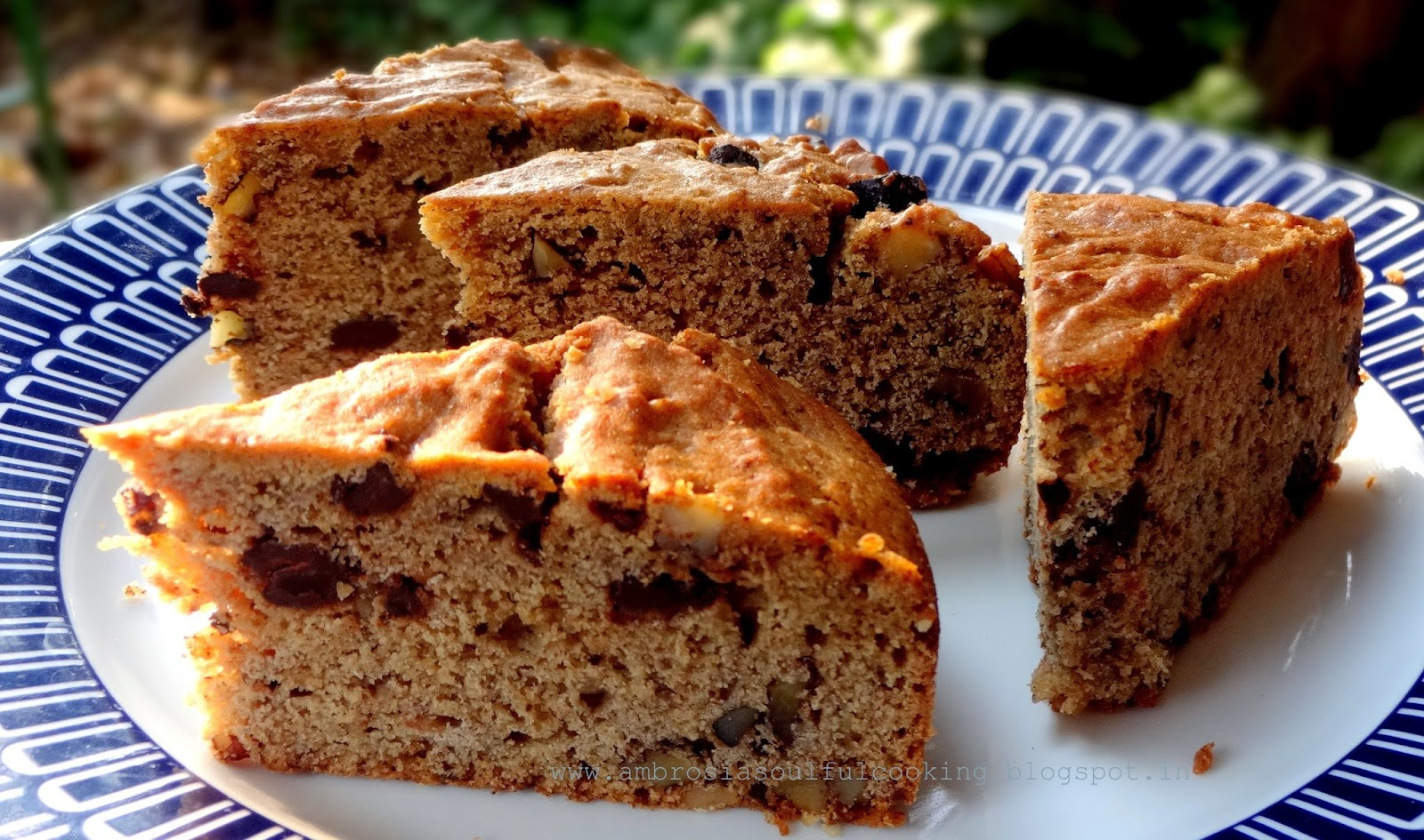 We had it with Banana Walnut & Chocolate Cookie Cake that wasbaked in ...