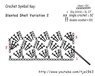 double crochet cross stitch instructions