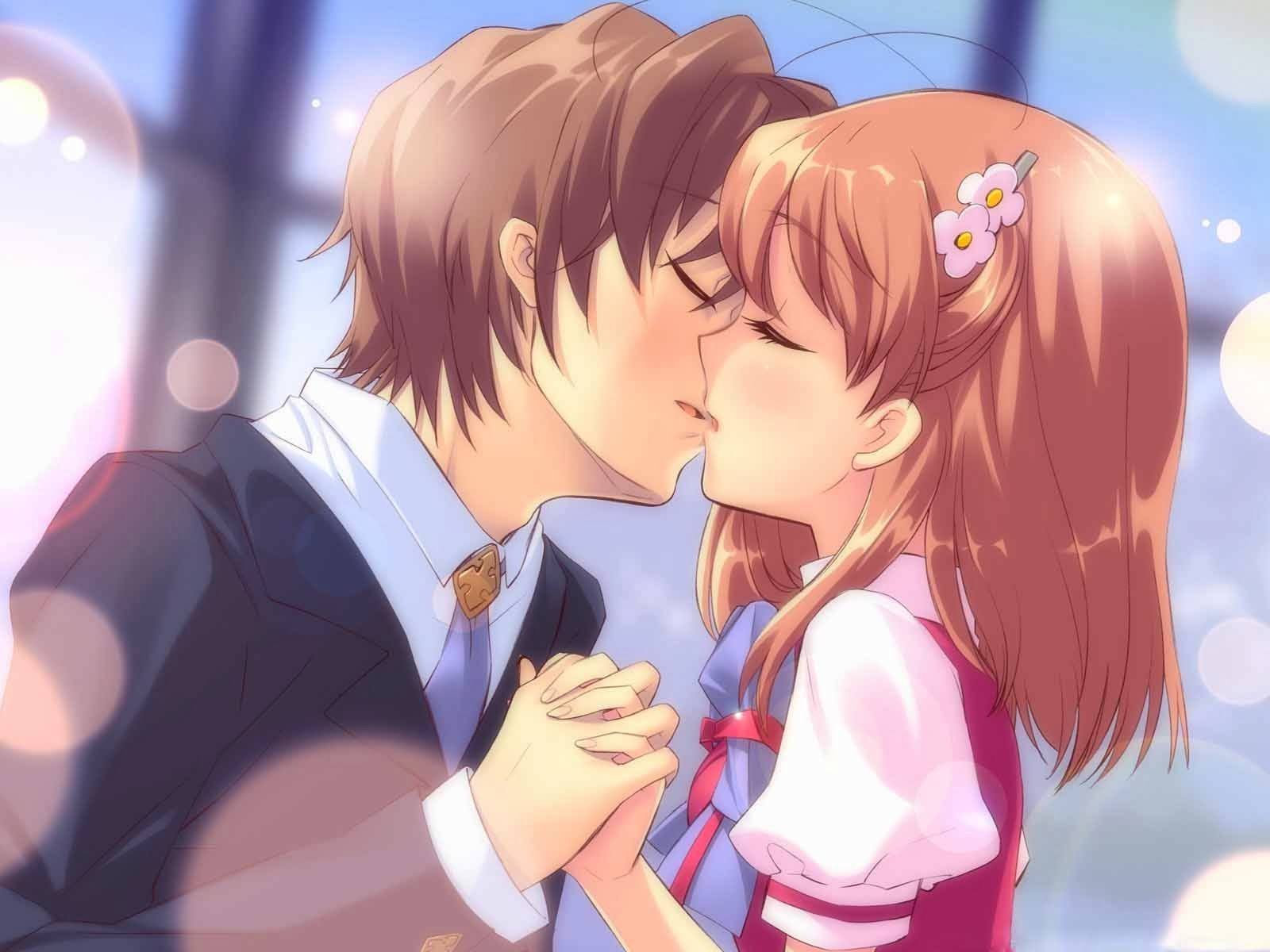 kiss day lovely cartoon hd wallpapers