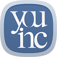 image Youinc logo silver rounded corners slate blue background white words