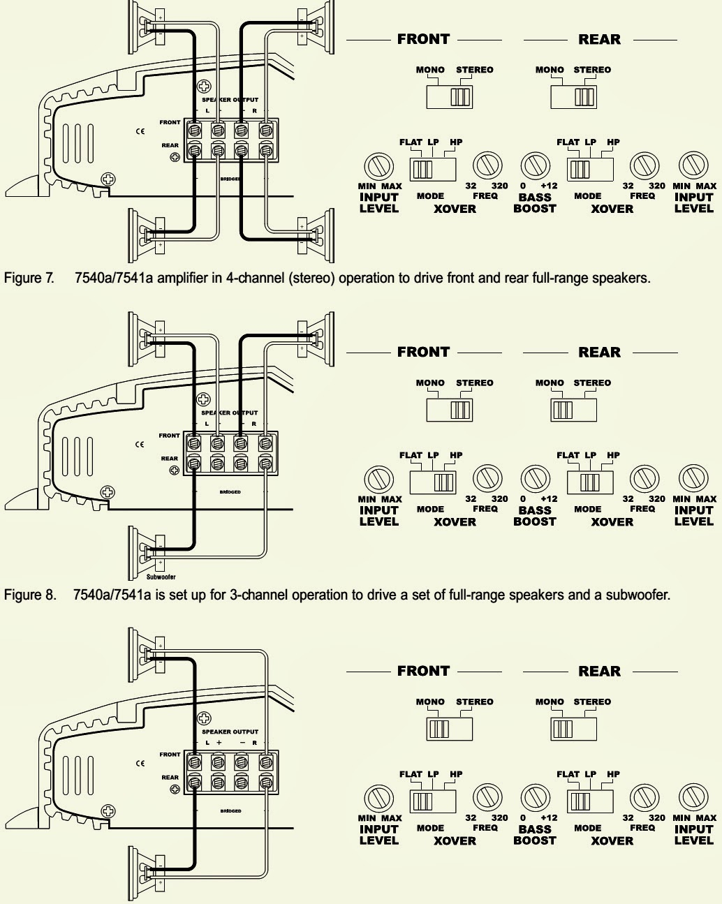 "infinity 7540a 7541a 4 channel car amp circuit diagram note bass boost"" only affects rear channels"