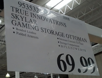 Deal for the True Innovations Skylar Gaming Chair and Storage Ottoman  at Costco