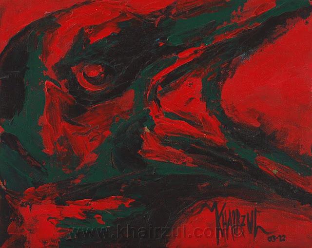 Khairzul ghani art blog angry bird crow animal painting for Angry bird mural