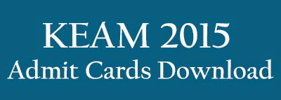 KEAM 2015 Admit Cards Download