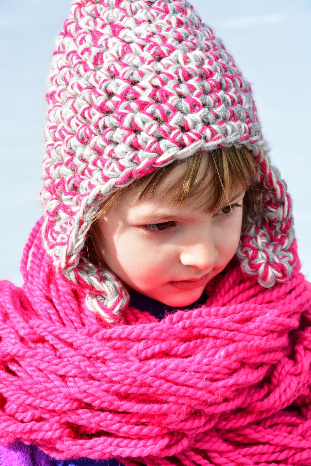 Earflap Hat Knitting Pattern Bulky Yarn : Aesthetic Nest: Crochet: Triple-Strand Earflap Hats for ...