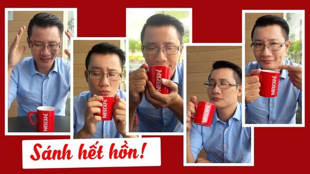 """Hoàng Bách cũng là một trong những sao Việt tích cực tham gia trào lưu """"biểu cảm sánh đậm""""."""