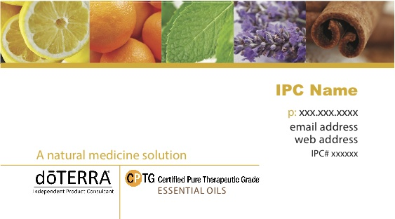 Doterra ipc business cards essential oils business cards mustard yellow flashek Image collections