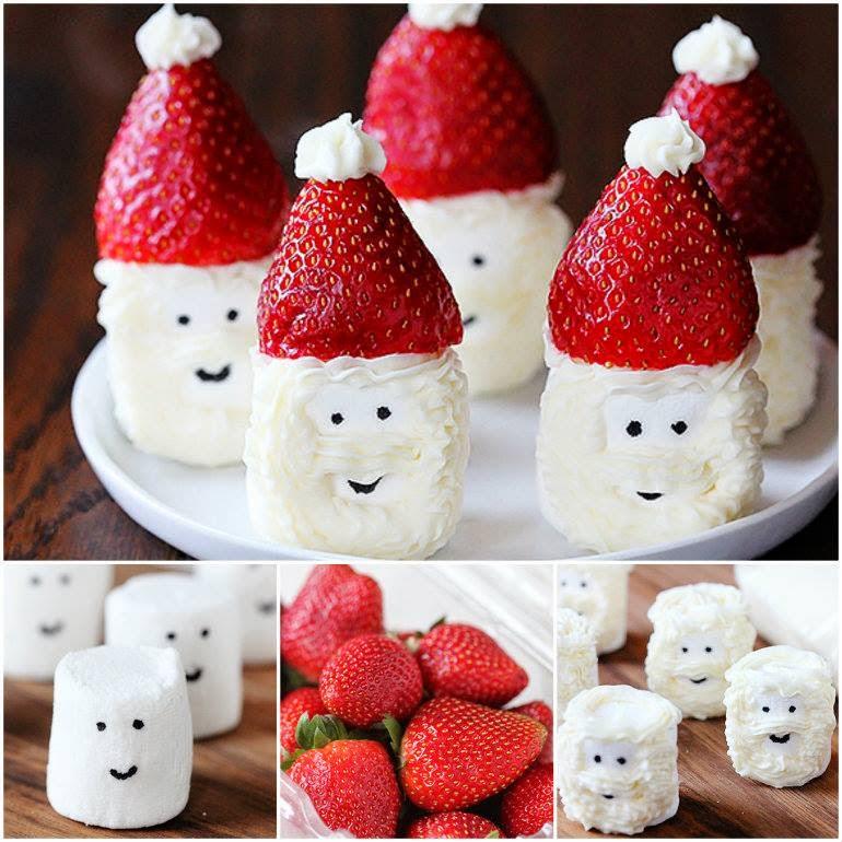 Ideas & Products: Santa Hat Marshmallow Treats