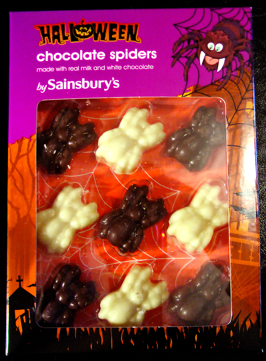 17th halloween food chocolate spiders - Halloween Chocolate Spiders