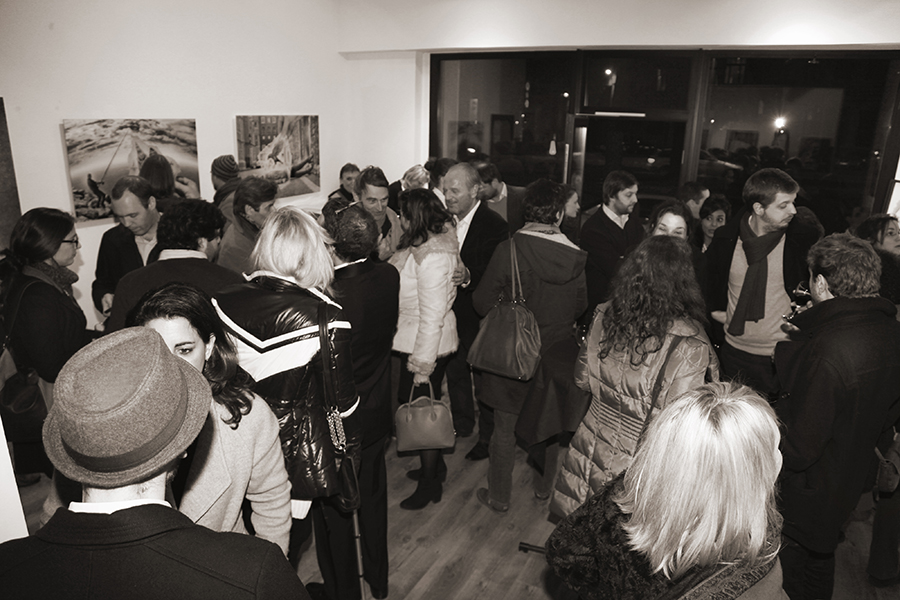 Visitors at Ben Heine Exhibition at DCA Gallery - Belgium - 2014