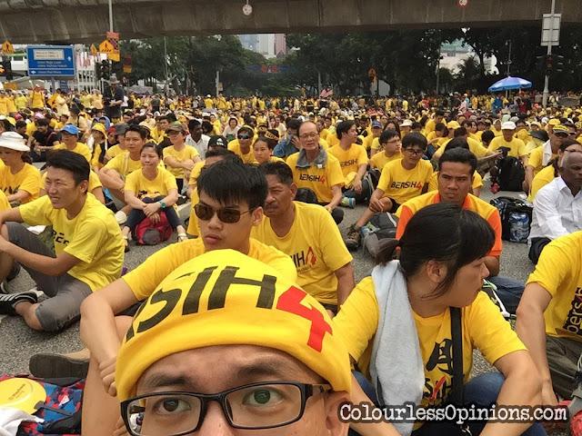Bersih 4 Dataran Merdeka jalan raja