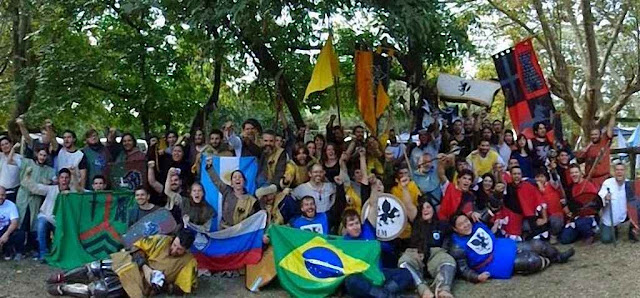 Os participantes do 1º Sulamericano de Combate Medieval ficaram emopolgados pelo sucesso