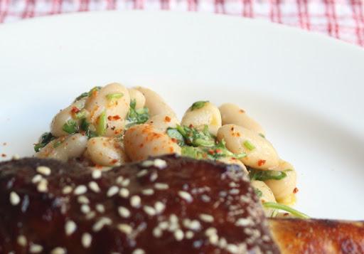 Cold White Bean & Herb Salad Miela Tahril
