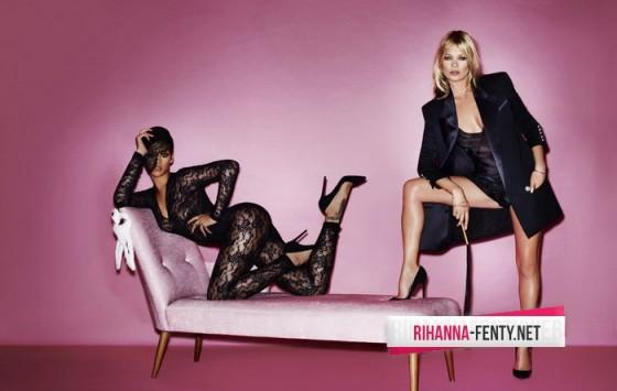 Rihanna, Kate Moss tople***ss V magazine photo shoot