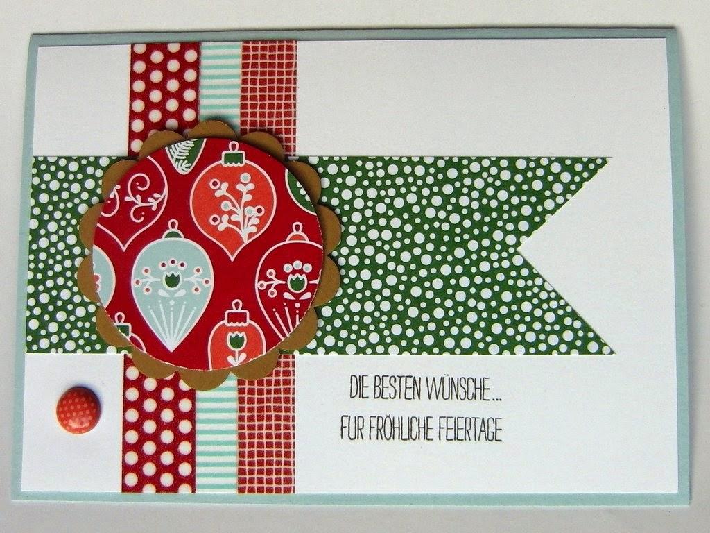 eri 39 s kreativwerkstatt einfache weihnachtskarte mit. Black Bedroom Furniture Sets. Home Design Ideas