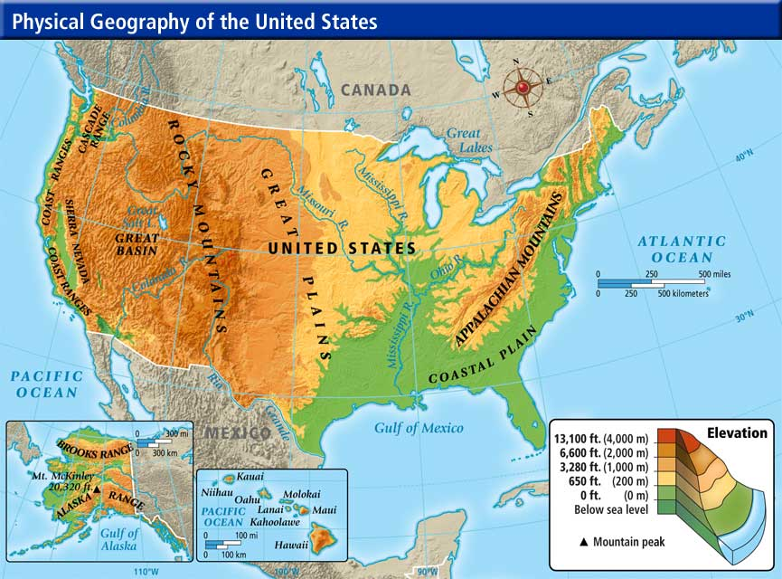 Map Of The Usa Geography