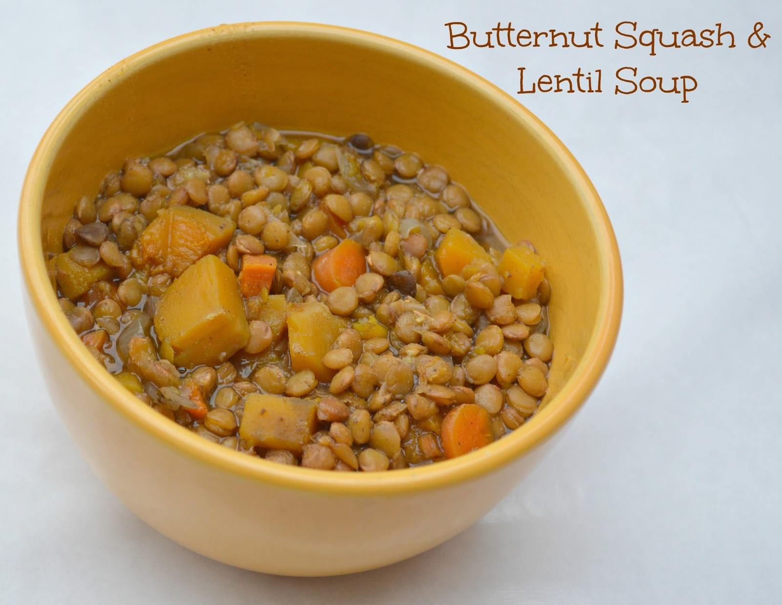 Butternut Squash and Lentil Soup - the Perfect Soup for Fall