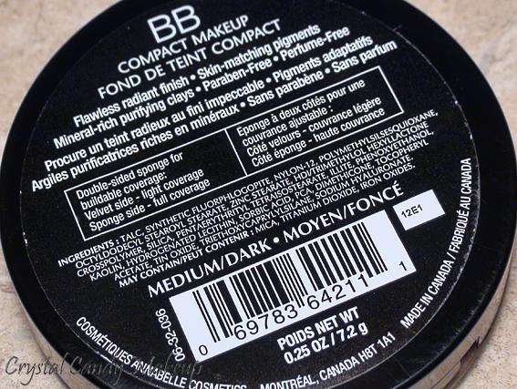 Fond de teint compact BB Moyen/Foncé d'Annabelle