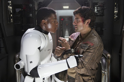 John Boyega and Oscar Isaacs in Star Wars: The Force Awakens
