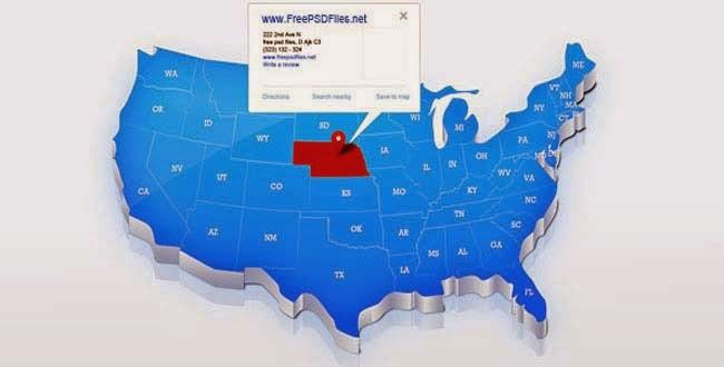 USA Map PSD File