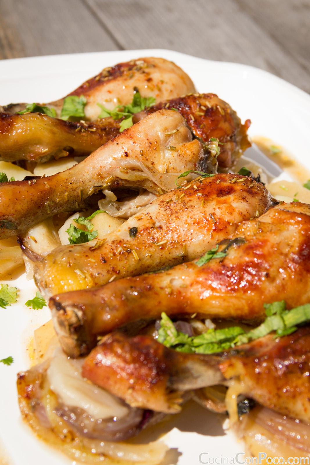 Pin pollo al horno on pinterest - Muslitos de pollo ...