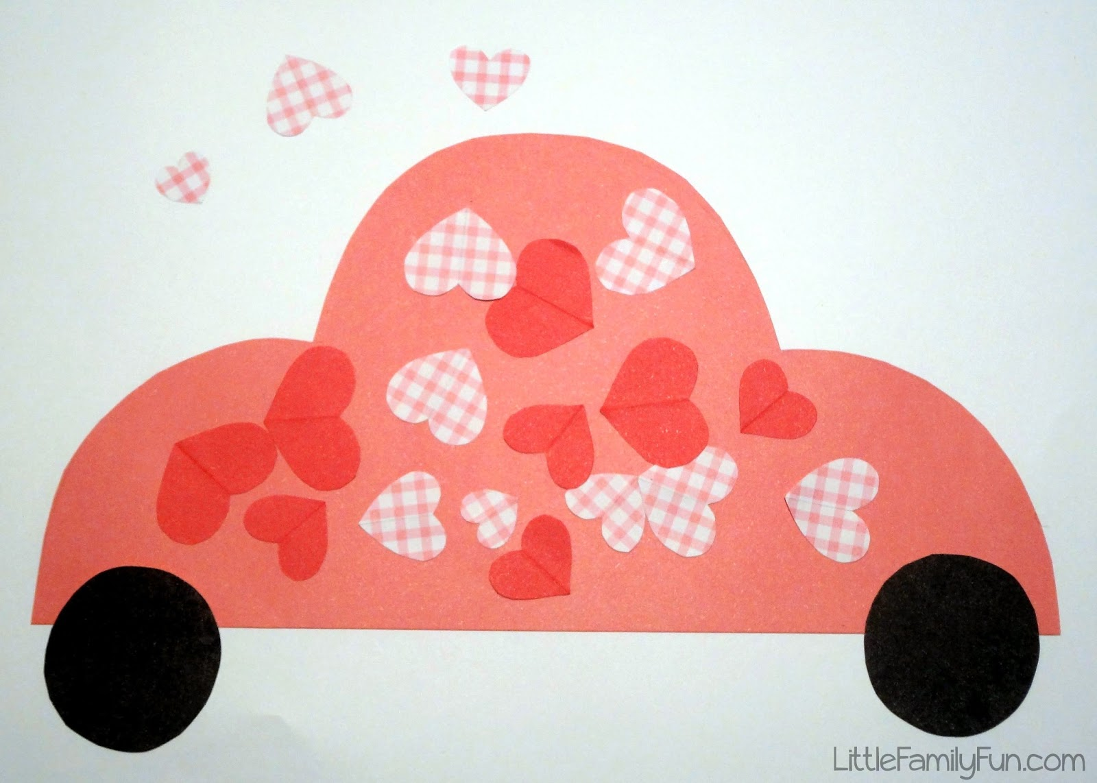 Heart car valentine 39 s day craft for kids for Car craft for kids