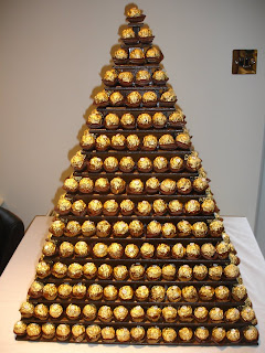 ferrero rocher pyramid/tower
