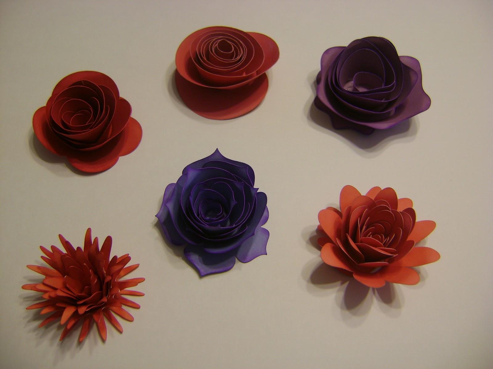 Pam's Clearly Crafty Corner: Cricut Art Philosophy Flowers