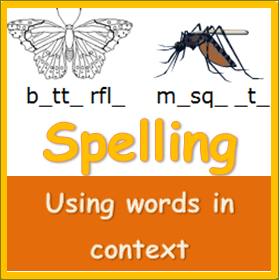 Spelling words in Context